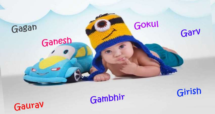 Baby Boy Names Starting With G